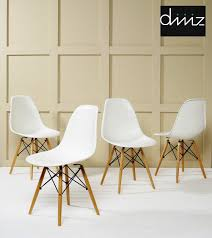the vitra replica of the dsw side chair by charles eames is