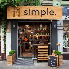 Best Exterior Design For Charming Fancy Fast Food Restaurant - Wooden interior design ideas