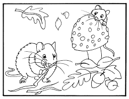 coloring autumn coloring page