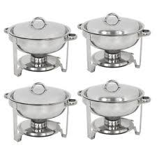 stainless steel chafing dish 4 quart capacity culinary essentials