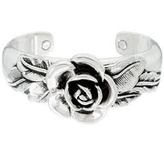 sterling silver rose bracelet images Or paz sterling silver bold rose cuff page 1 001