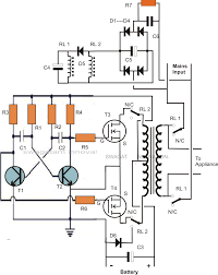 Auto Battery Wiring Diagram Single Transformer Inverter Charger Changeover Circuit