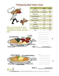 holidays 11 thanksgiving meal calorie count activity