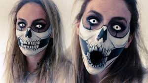 Skeleton Face Painting For Halloween by Skull Mask How To Face Paint Youtube