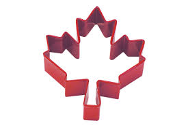 Flag Cookie Cutter Canadian Maple Leaf Cookie Cutter Red