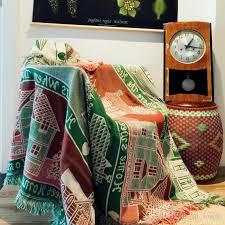 extra large cotton sofa throws cotton retro style carpet thin blanket ethnic style art sofa towel