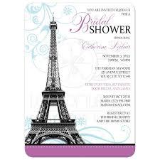 shower invitations modern eiffel tower parisian