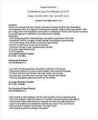 preschool assistant teacher resume sample resume for preschool teacher process engineer resume sample