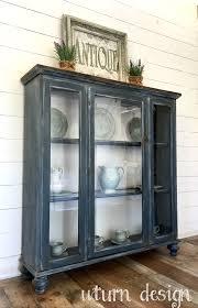 dark grey farmhouse hutch by uturn design uturn design
