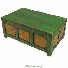 Trunk Coffee Table Wood Trunk Coffee Table Distressed Green U0026 Yellow