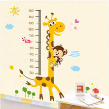 buy decals design kids giraffe height chart wall sticker pvc buy decals design kids giraffe height chart wall sticker pvc vinyl online low prices india amazon
