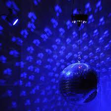 led disco ball light 12 mirror disco ball dj stage party led light rotating motor 3w