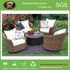 Patio Furniture Rattan New Style Outdoor Furniture Magic Rattan Swivel Chair With Table
