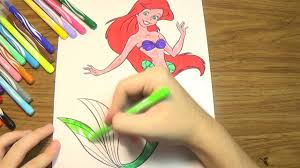 ariel mermaid coloring pages princess coloring pages how to