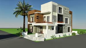 home design for 10 marla 3d front elevationcom 10 marla corner house plan design of tariq