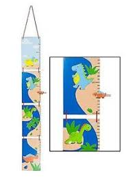 hanging picture height wooden dinosaur kids height chart children room wall hanging