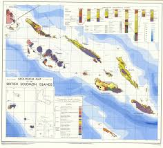 Guadalcanal Map Geological Map Of British Solomon Islands Esdac European