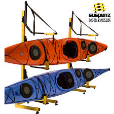 Free Standing Kayak Storage Rack Plans by Deluxe 2 Boat Free Standing Rack Also Available In Black Suspenz