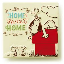 Home Sweet Home Decorative Accessories by Home Sweet Home Ceramic Tile Snoopy And Charlie Brown