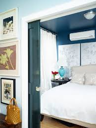 diy pocket door bedroom eclectic with nailhead trim navy ceiling