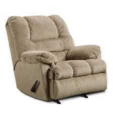 simmons upholstery 600 casual big man 3 position rocker recliner