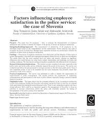 factors influencing employee satisfaction in the police service