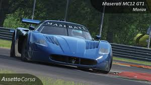 maserati mc12 race car assetto corsa maserati mc12 gt1 vs monza youtube