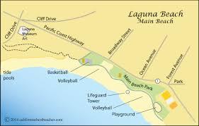 california map laguna laguna california s best beaches