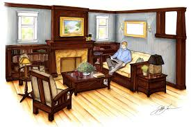 Home Interior Wallpapers Luxury Interior Wallpapers Interior Perspective Drawings Living