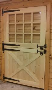 Double Swing Door Wooden Solid Dutch Door With Window For The Home Pinterest