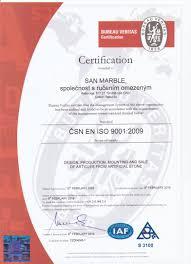 bureau veritas pro certifications san marble