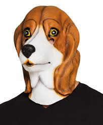 beagle latex mask fancy dress dog puppy animal halloween stag