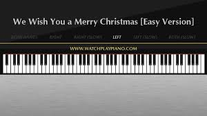 we wish you a merry easy piano tutorial