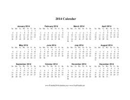 2014 one page calendar template 28 images creative mamma 187