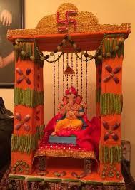 Ideas For Diwali Decoration At Home Ganpati Decoration Ideas At Home Ganesh Pooja Decoration
