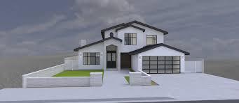 2 car garage modern house 2 story 4 bedrooms 2 car garage 3d model