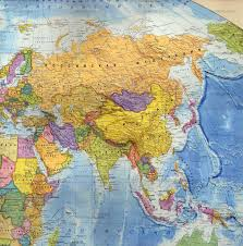 Map Of Asia Countries by Large Detailed Political And Relief Map Of Asia In Russian Asia