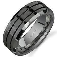 black mens wedding ring 8mm unisex or men s wedding band mens wedding rings black