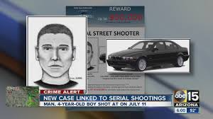 police phoenix serial shooter fires at vehicle man and 4 year