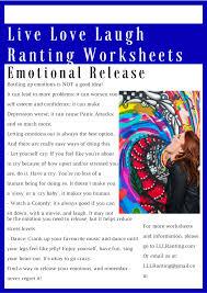 mental health worksheet u2013 emotional release u2013 live love laugh ranting