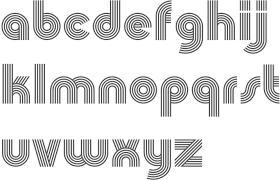 Design Lines Font | churchward type