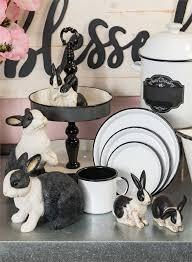 ceramic nature rabbit table l standing rabbit figurine sullivans
