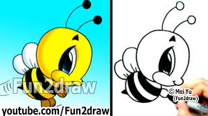 how to draw cartoon characters bumble bee in 2 min easy things