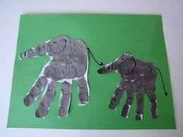 letter e crafts letter e craft handprint elephant preschool items juxtapost