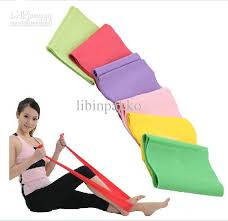 Chair Resistance Band Exercises Latex Fitness Flat Light Med Heavy Resistance Band Elastic Stretch