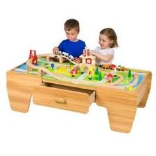 wooden train set table 80 piece wooden train set with table farm house vehicle building
