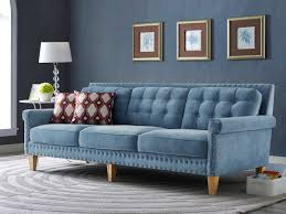 Teal Tufted Sofa by Blue Velvet Tufted Sofa Tehranmix Decoration