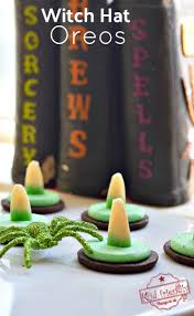 halloween witch cake ideas easy to make witch hat oreo cookies for a fun kid halloween food idea