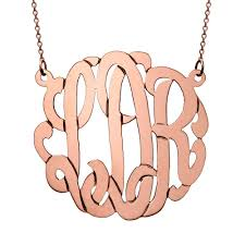 monogram necklace sterling silver monogram necklace s addiction
