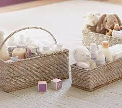 Changing Table Storage Baskets Nursery Changing Table Storage Pottery Barn